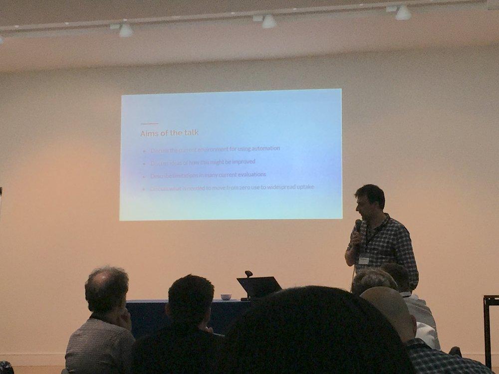 Iain Marshall presenting