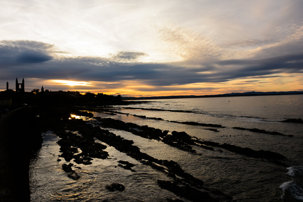 Looking back from the St. Andrews Pier Walk at sunset. Nikon D7100 (18-105mm f/3.5-5.6G ED VR Lens)