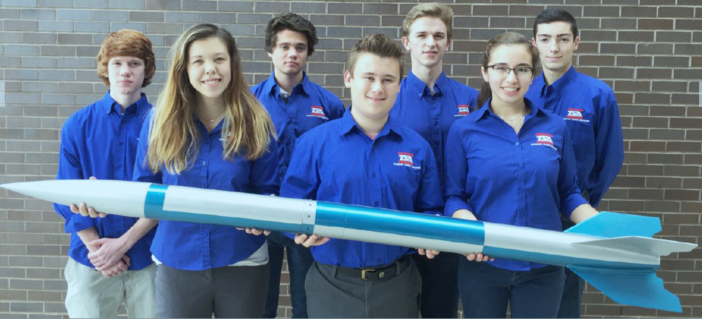 2016-2017 NASA team members.  From left to right: Eric Beights, Kathryn Lehocky, Jason Beights, Alex Lehocky, Kyle Myscich, Alex Macias, Mitchell Palmer.