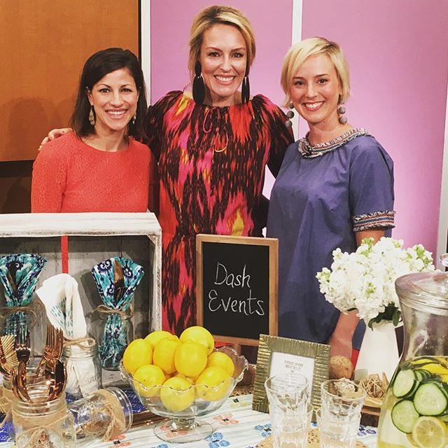 Thank you for having us today @studio512tv! So much fun sharing our table setting tips. Tune in tomorrow at 11am!  #dashaustin #studio512