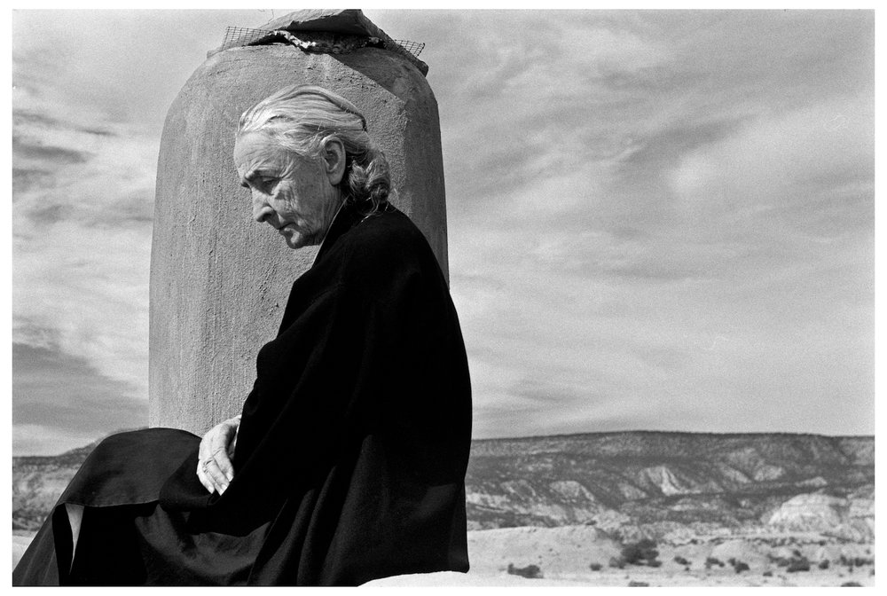 1967 GEORGIA O'KEEFFE, Ghost Ranch, New Mexico.