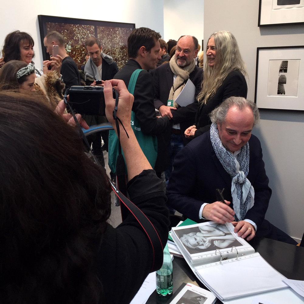 Patti Smith at Gagosian Gallery
