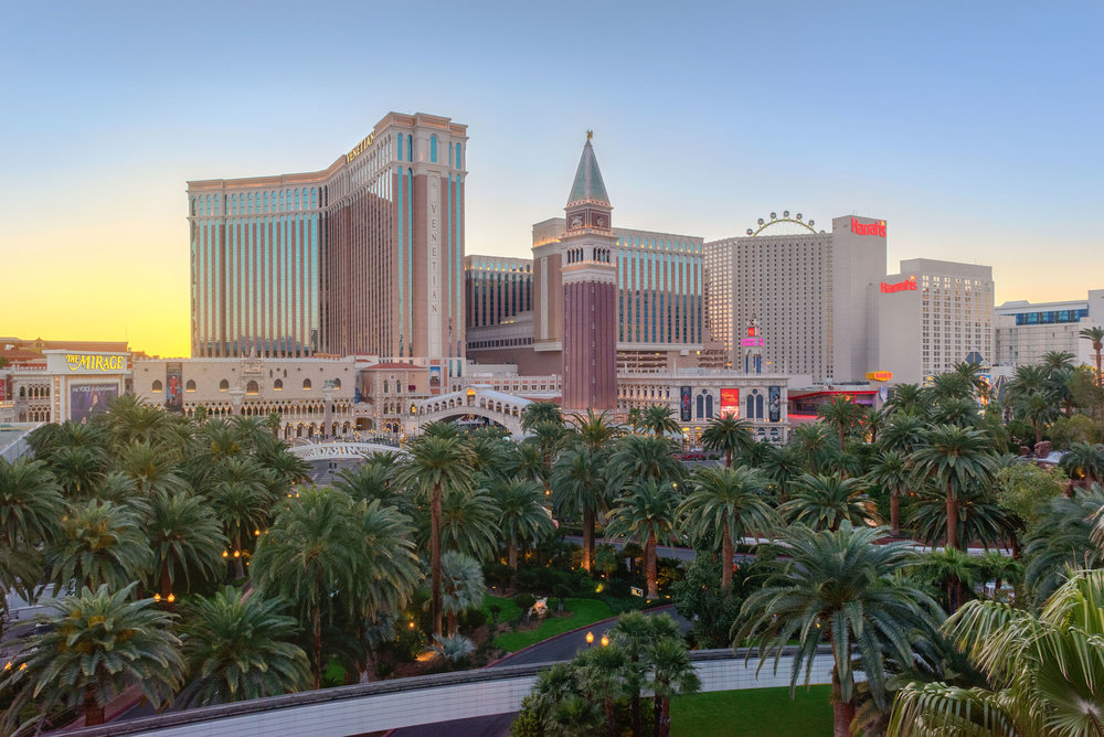 Las Vegas Strip Sunrise - Architectural Photography