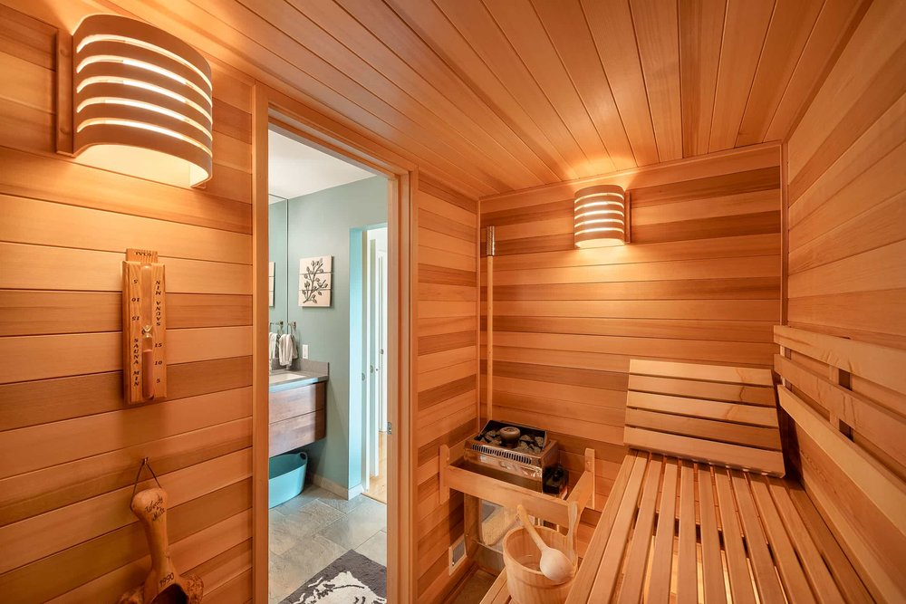 Sauna Addition Chad's Design Build - Architectural Photography
