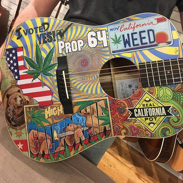 this weed guitar is available at @gruhnguitars
