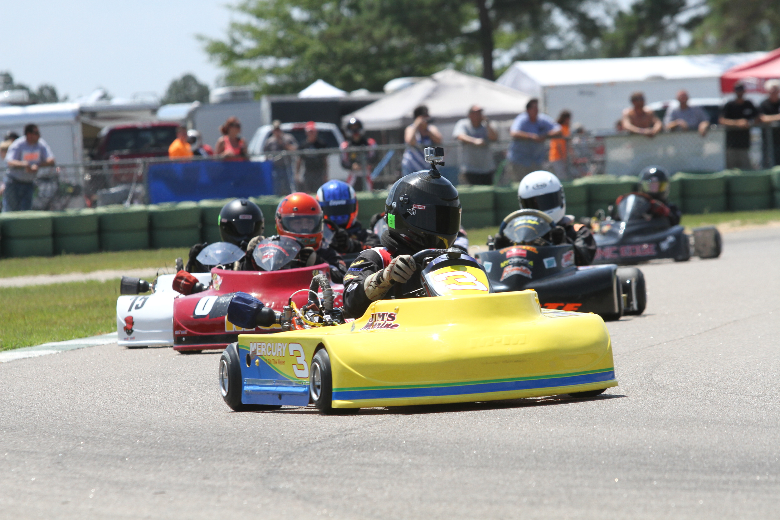 21 karts lined up for the Senior Pro Gas Money race, rounding out the  Friday on track activities. And for the second race in a row, Zach Linsell  found ...