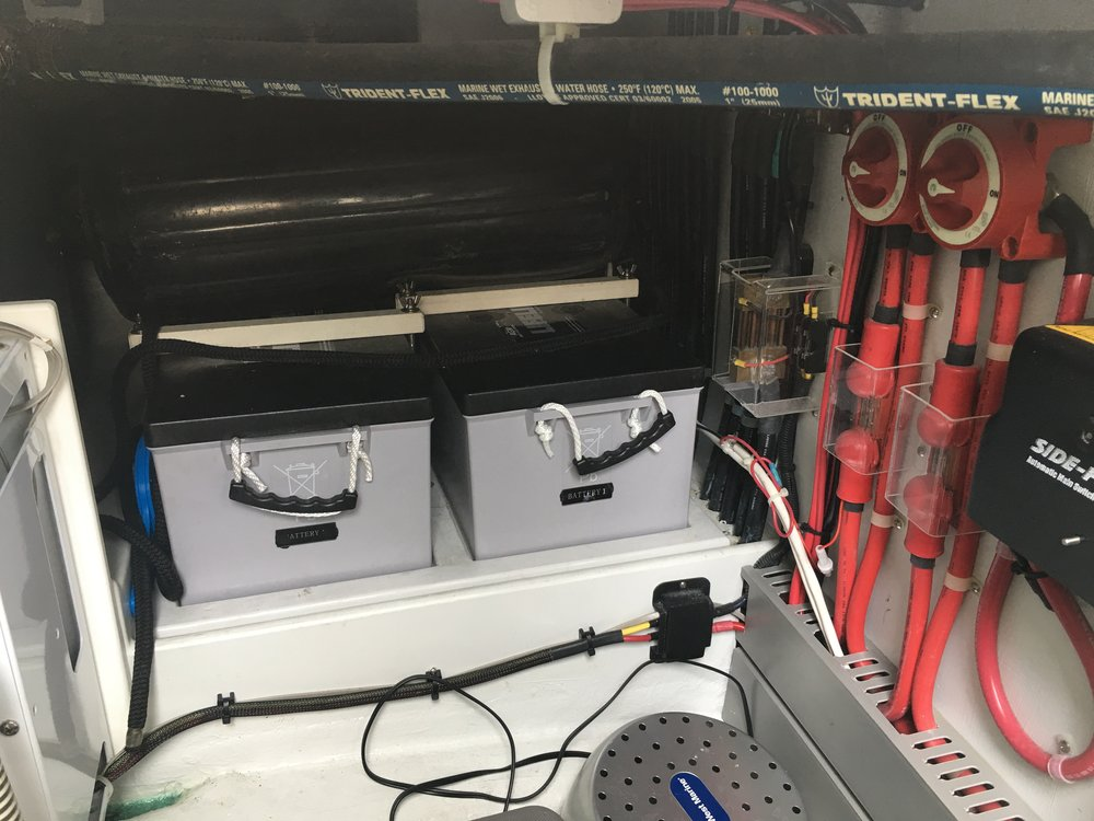Marine Electrical battery installation