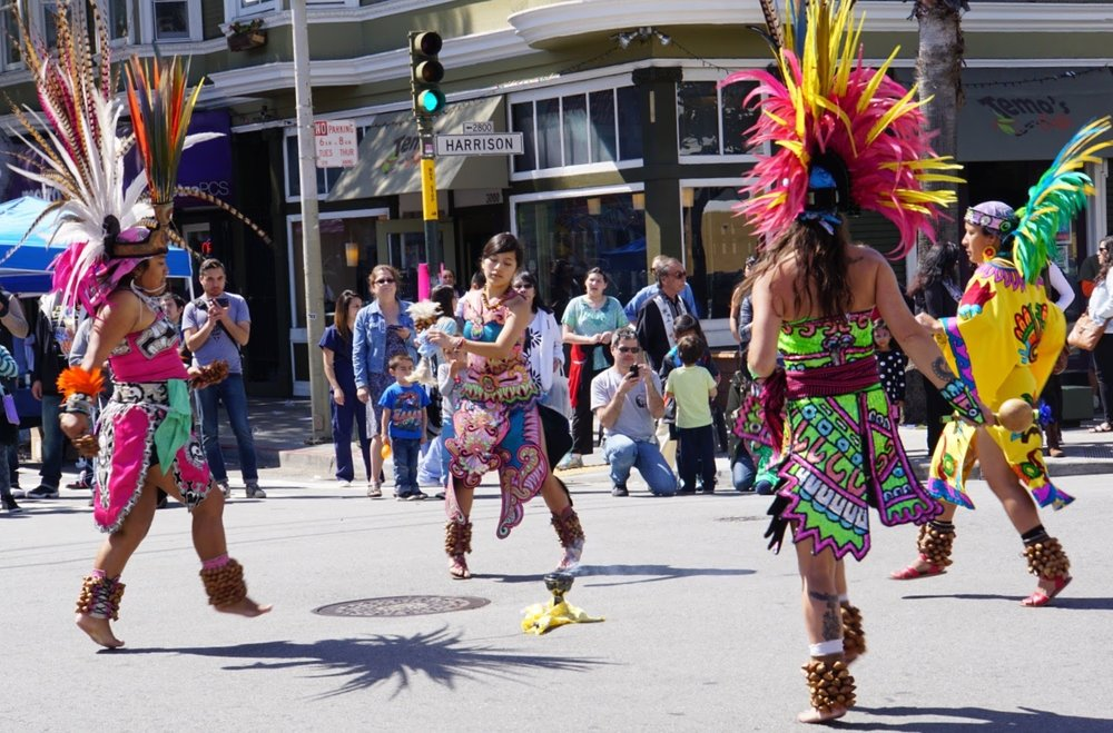 An absolute treat: taking in native dance during one of the mission's many annual festivals.