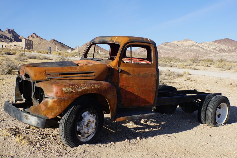 We discovered this beauty in death valley national park. Decisively NOT road trip ready.