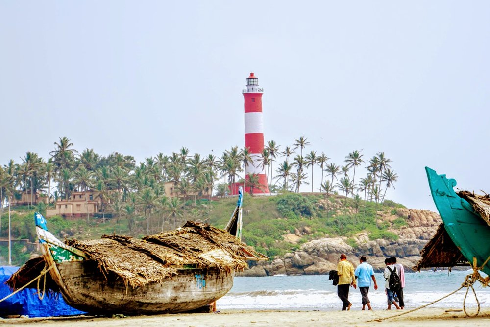a little r&r at lighthouse beach, south of downtown trivandrum, India