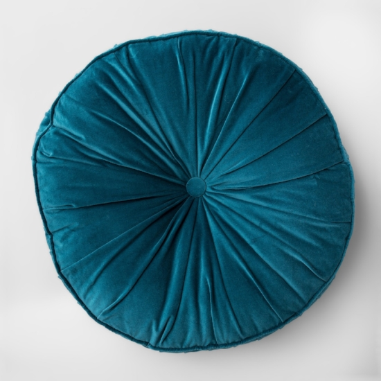 Round Velvet Floor Pillow  You can't have too many floor pillows, especially when they're this pretty (and only $30).