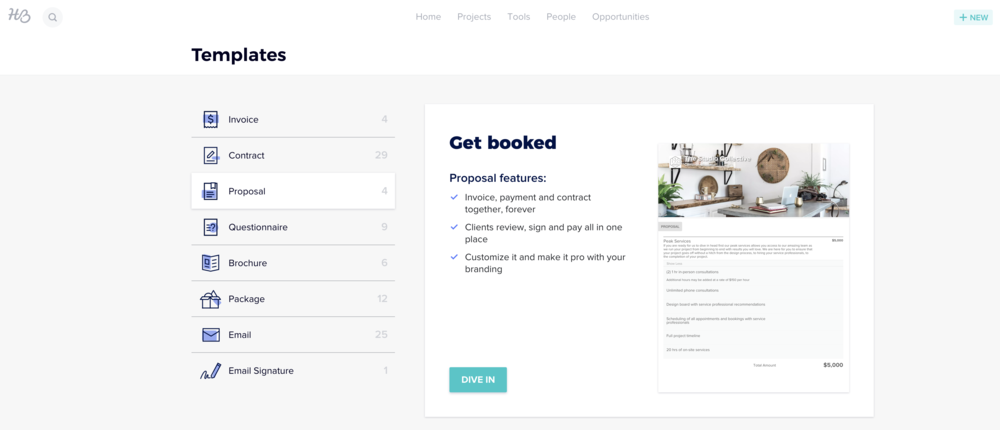 Honeybooks templated proposals saved me a lot of time when it came to booking clients.