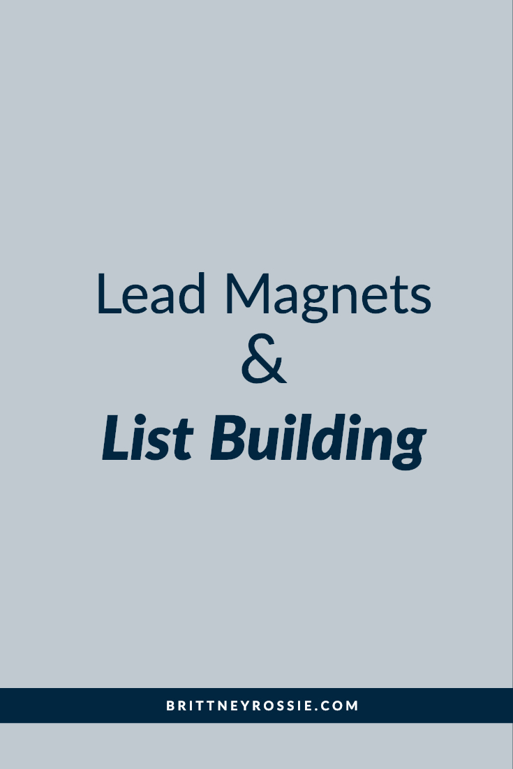 lead magnets & list building - brittneyrossie.com