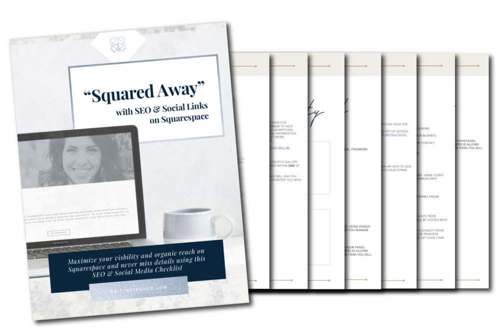 Squarespace SEO Workbook