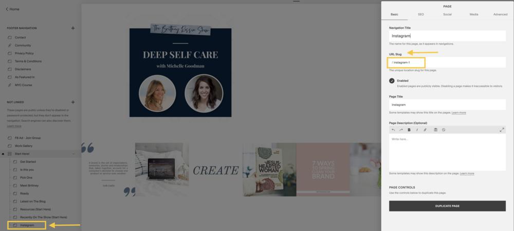 CSS Instagram and Squarespace- brittneyrossie.com