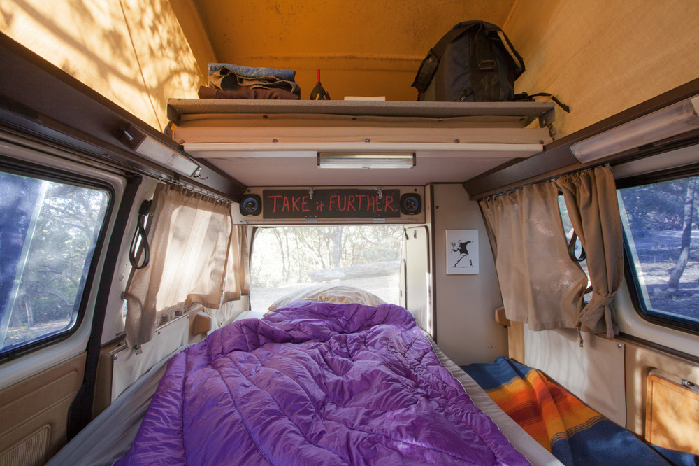 The interior of my Volkswagen van on a spring day