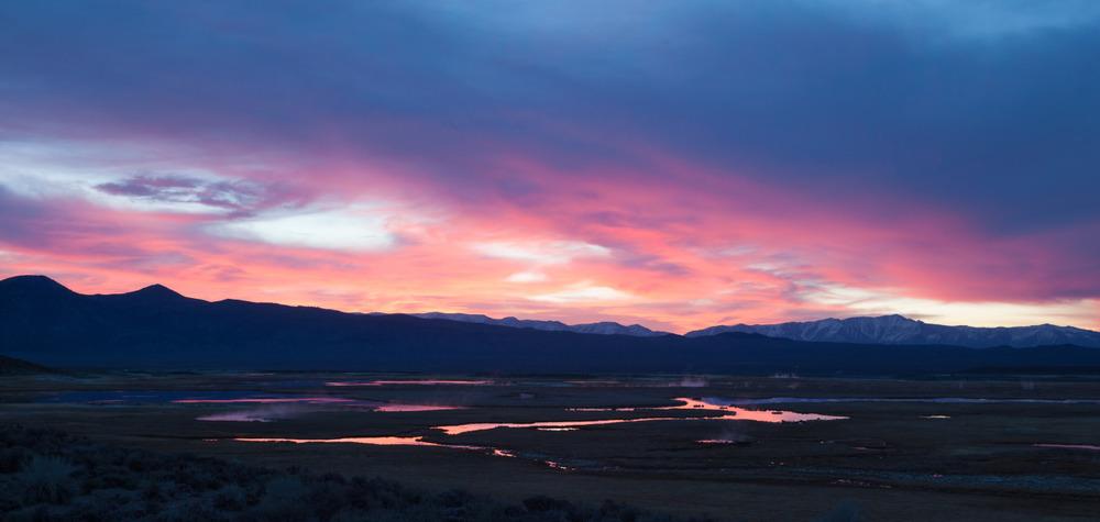 Sunrise in the Eastern Sierra, near Mammoth Lakes, California