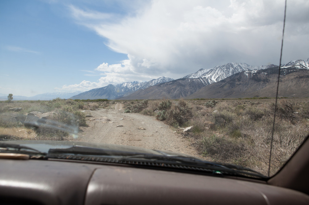 The approach to the hike into Split Mountain, Eastern Sierra