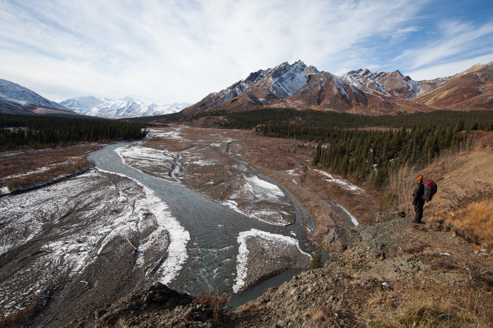 The Teklanika River in the Denali Wilderness
