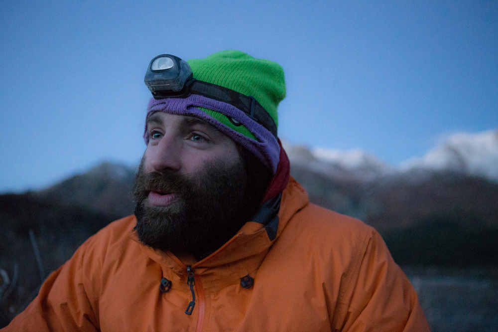 Portrait of me as the light fades in the Denali wilderness.