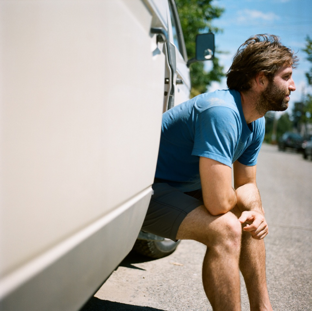A portrait Catherine took of me in my '86 Volkswagen Vanagon named Donnie