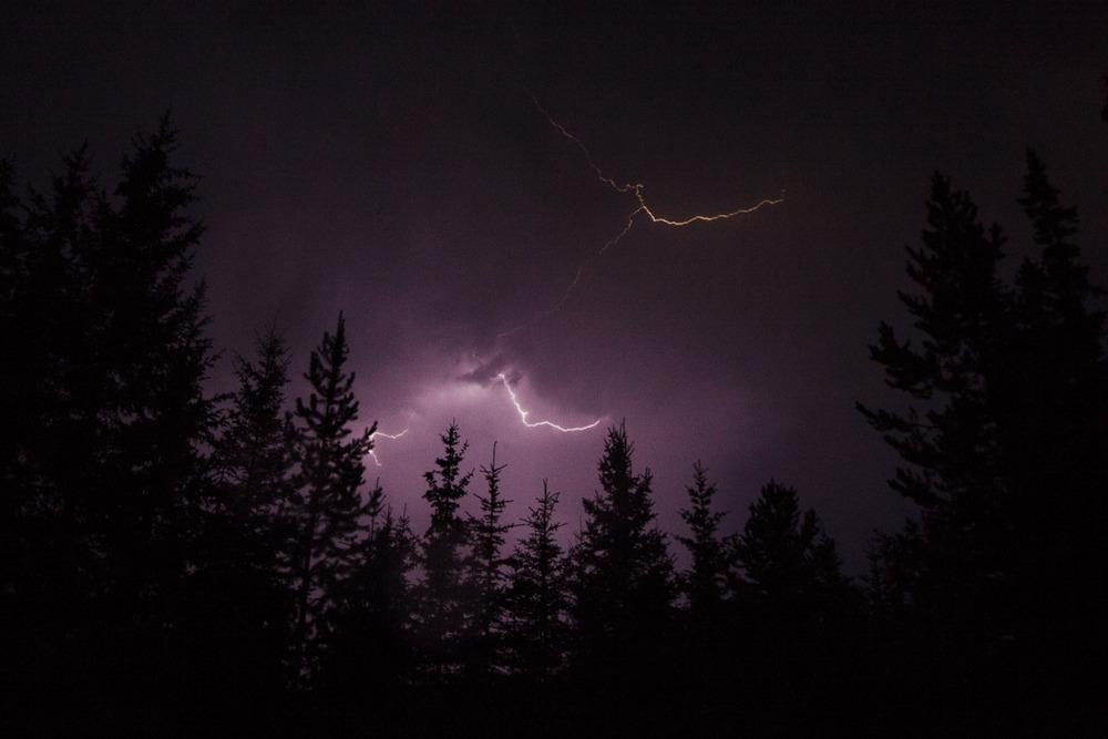 Lightning storm somewhere in British Columbia