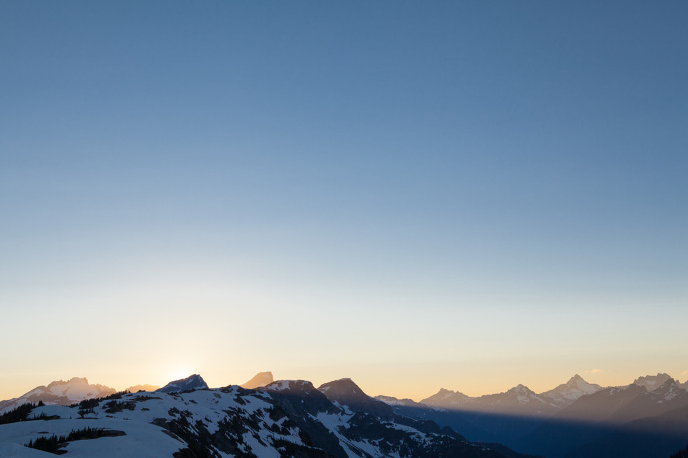 Sunset from the Sourdough Lookout, North Cascades Nat'l Park