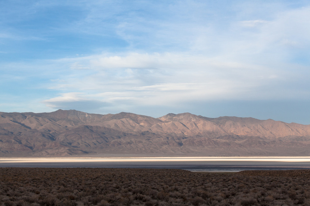Owens Lake, a once magnificent lake in far eastern reaches of California, now dried up