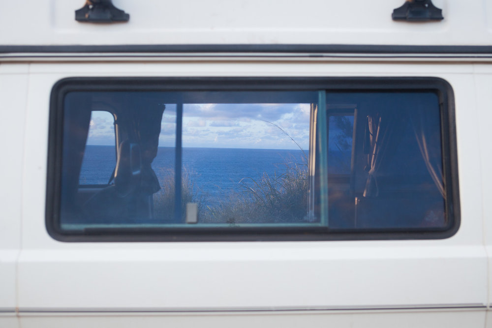 Volkswagen Vanagon camped out on Maui