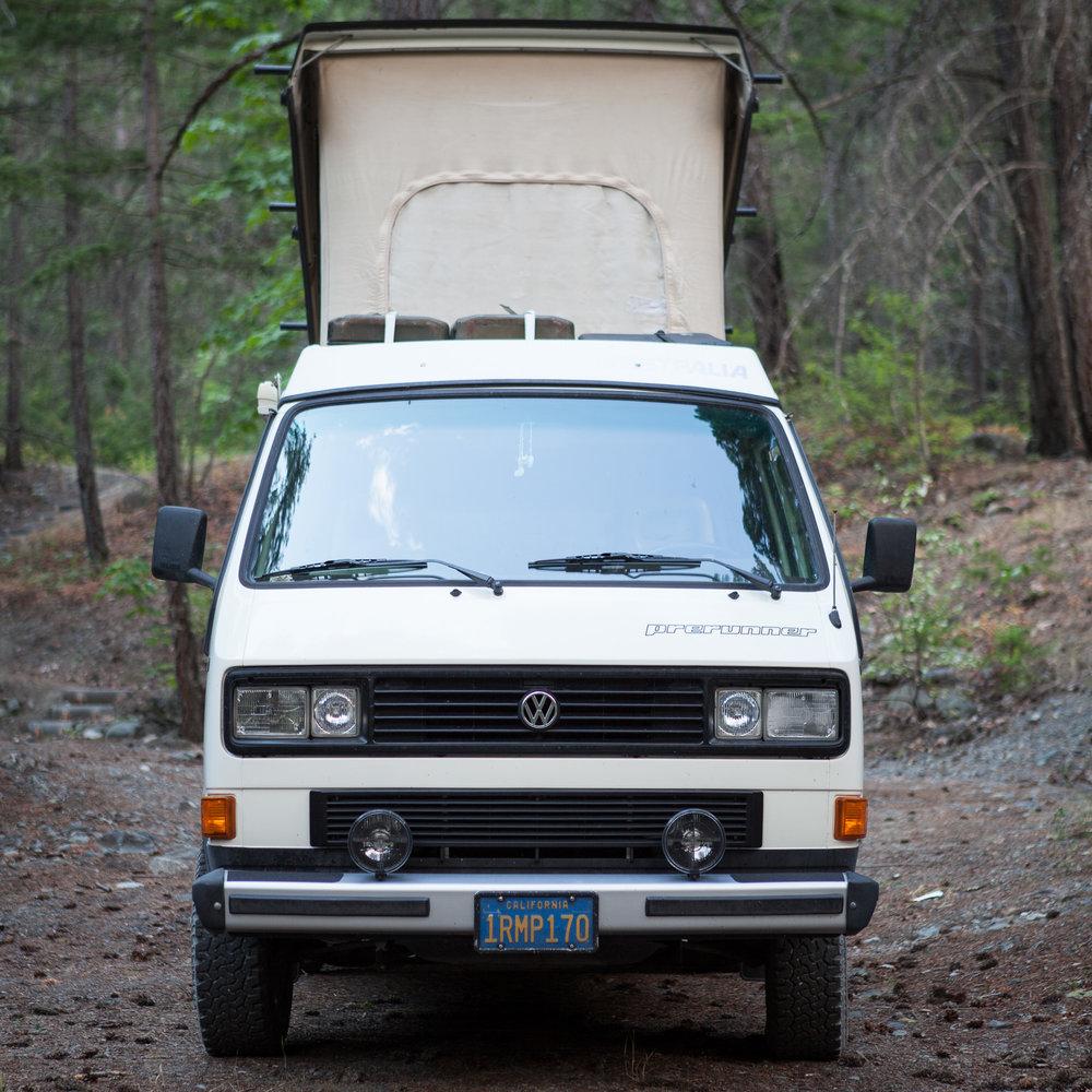 Volkswagen Vanagon in British Columbia woods