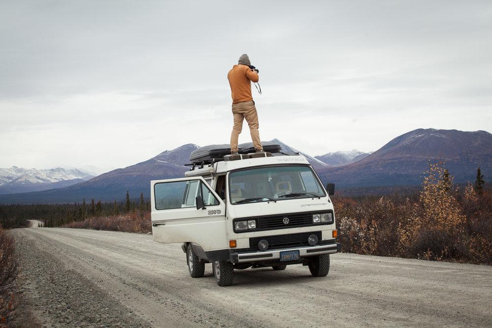 Volkswagen Vanagon on the Denali Highway