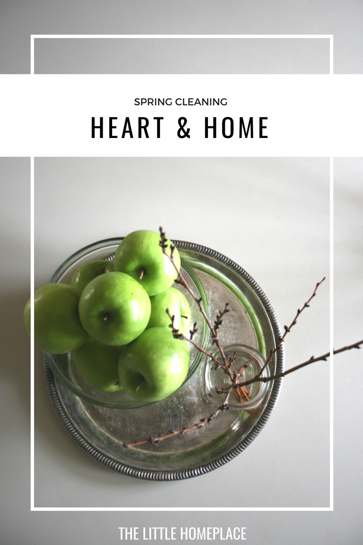 Spring Cleaning - Heart & Home | The Little Homeplace