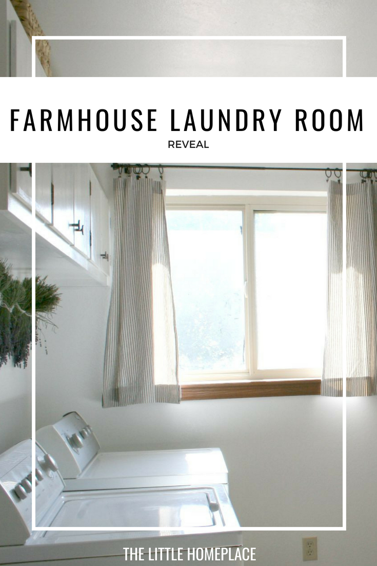 Farmhouse Laundry Room Reveal | The Little Homeplace
