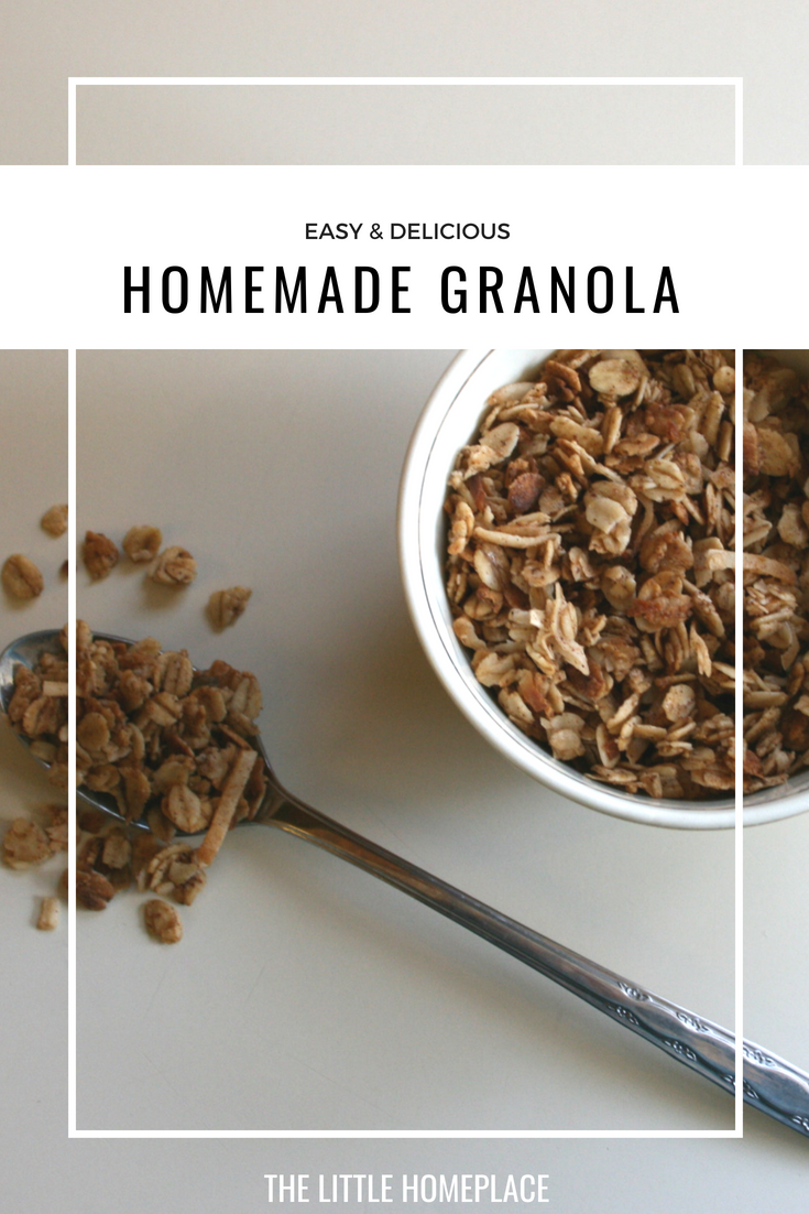 Easy & Delicious Homemade Granola | The Little Homeplace