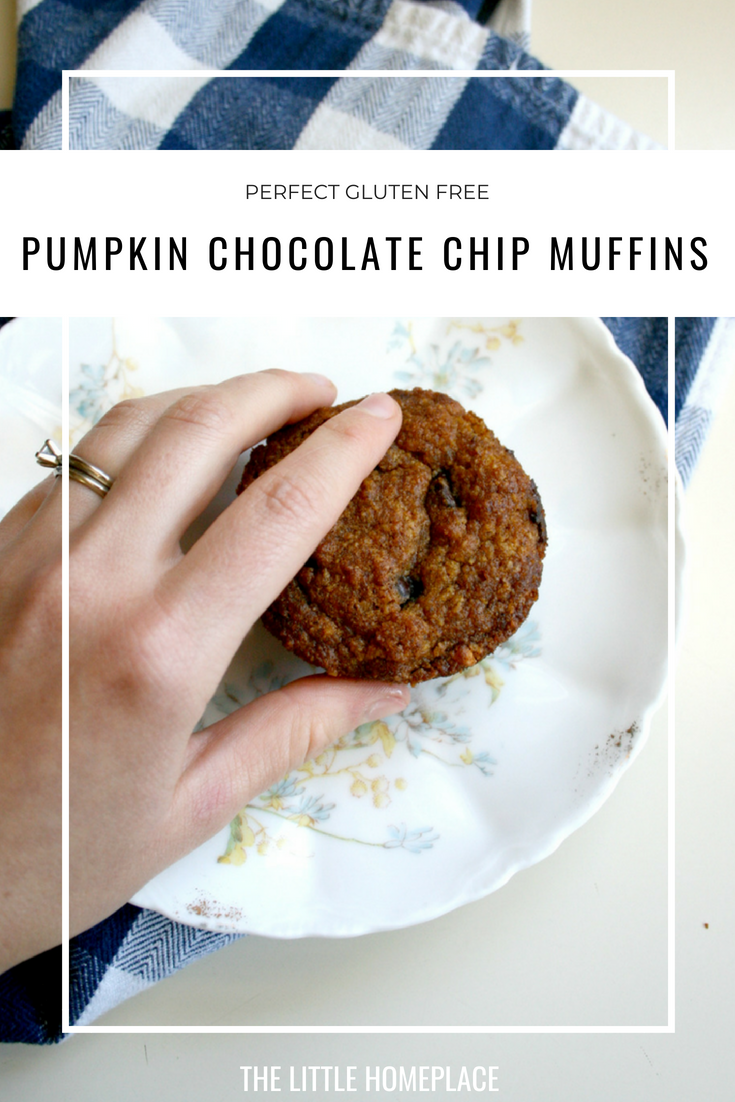 Perfect Gluten Free Pumpkin Chocolate Chip Muffins | The Little Homeplace