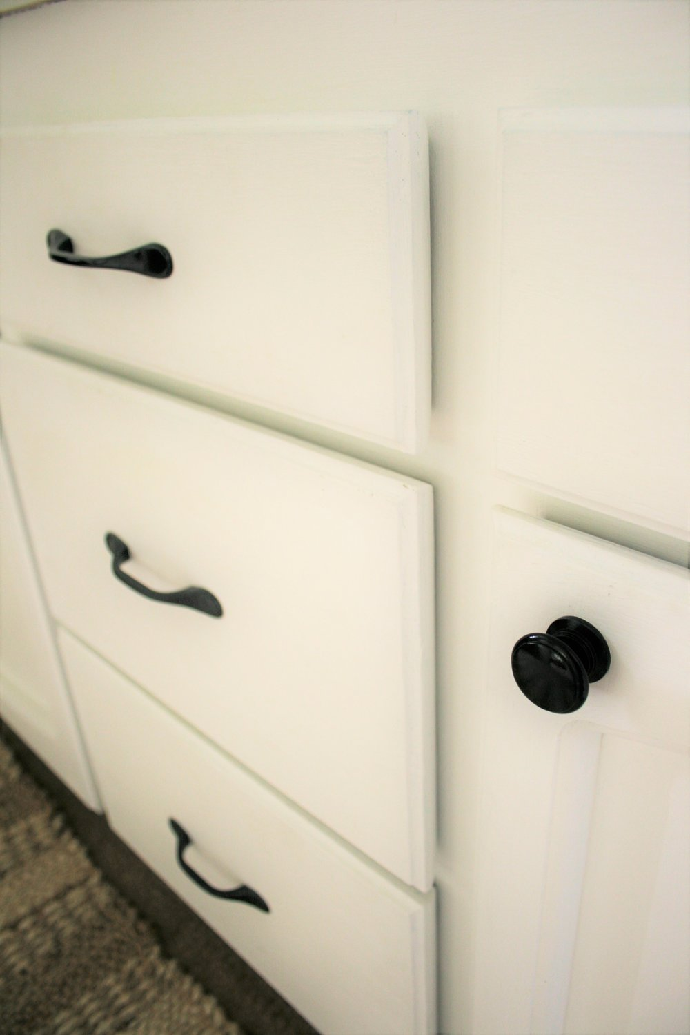 Farmhouse Bathroom Cabinet Hardware | The Little Homeplace