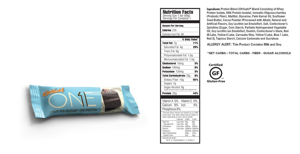 OH Yeah Protein Bar