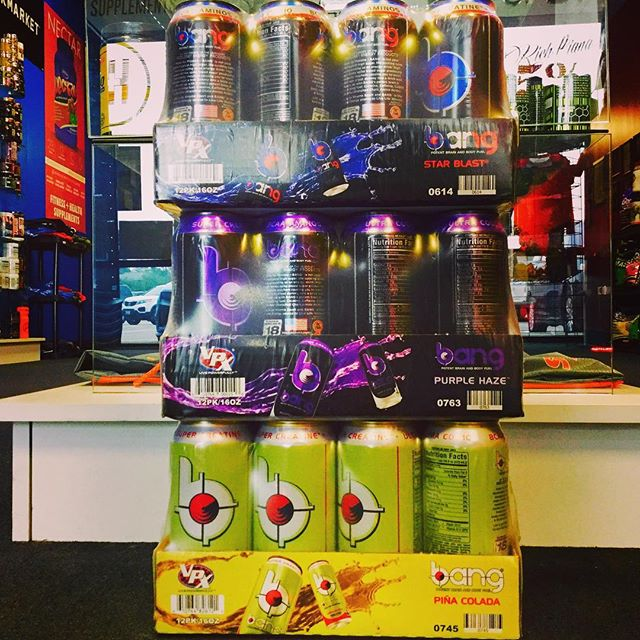 This Saturday only case of bang mix and match $18.00! #bang #bangenergy #lift #gym #conroe