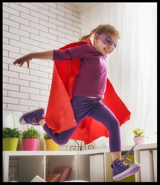Superhero girl!