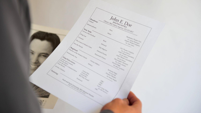 5 Unbreakable Acting Resume Rules J L David Talent Contact J L