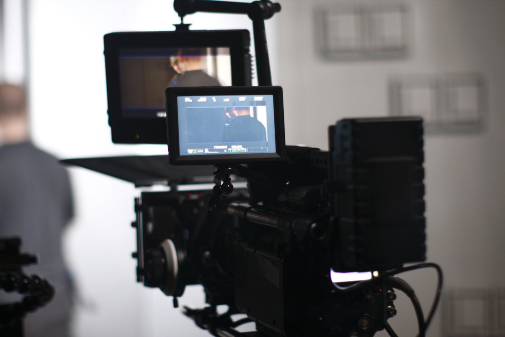 Digital cinema camera on a foggy/smoky movie set.