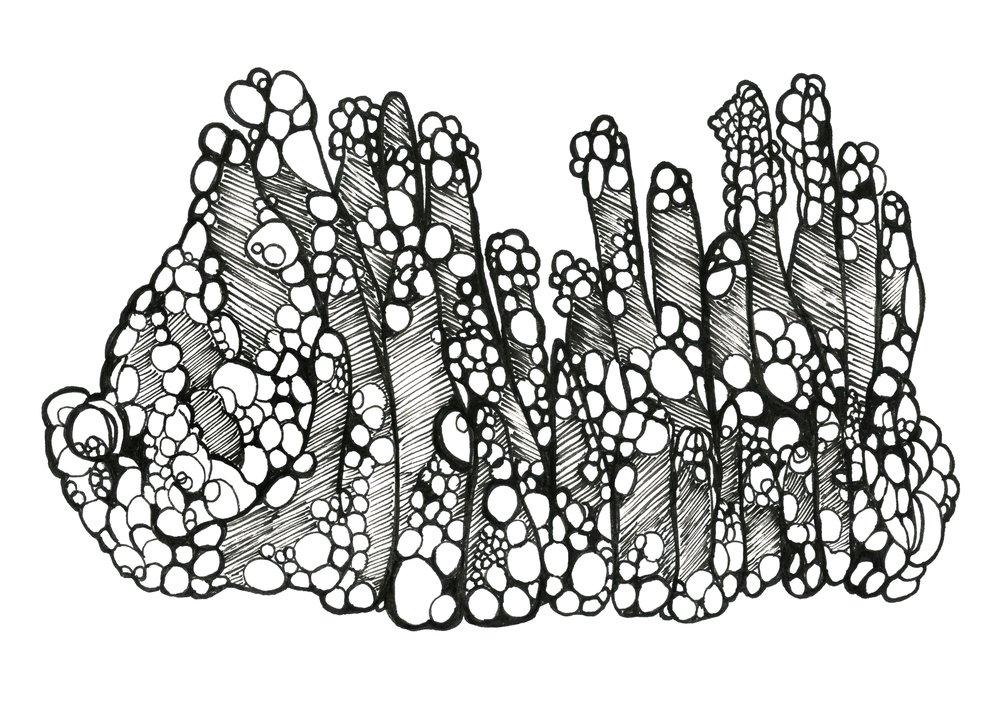 Malachite stalactite