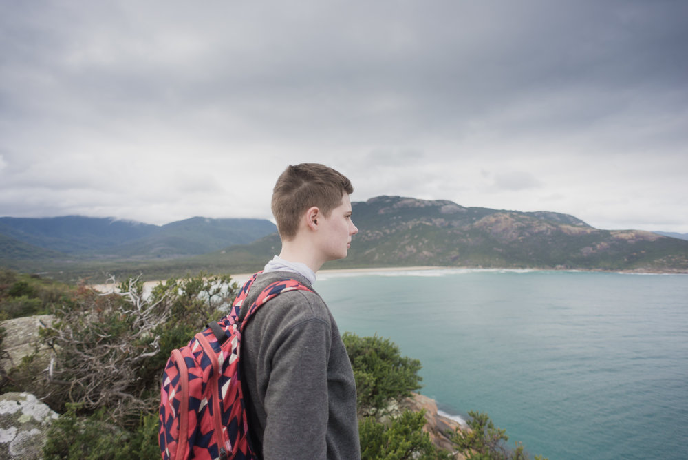 girl staring at view wilsons promontory tidal point