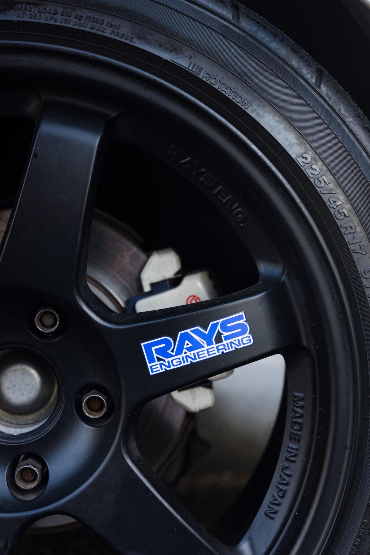 rays engineering black wheel rims