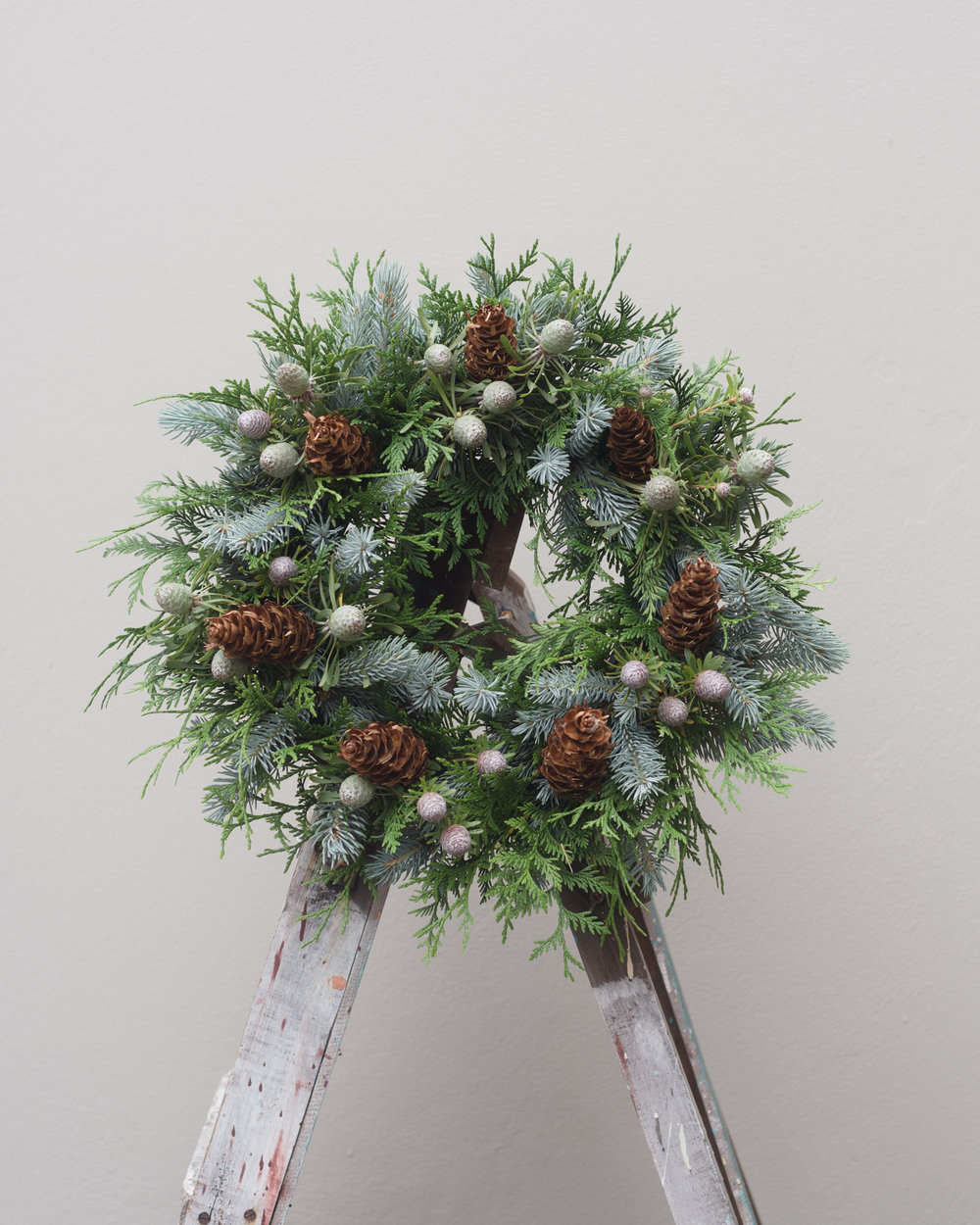 pine cone floral wreath