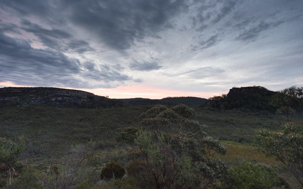 burrumbeet brook caves sunset
