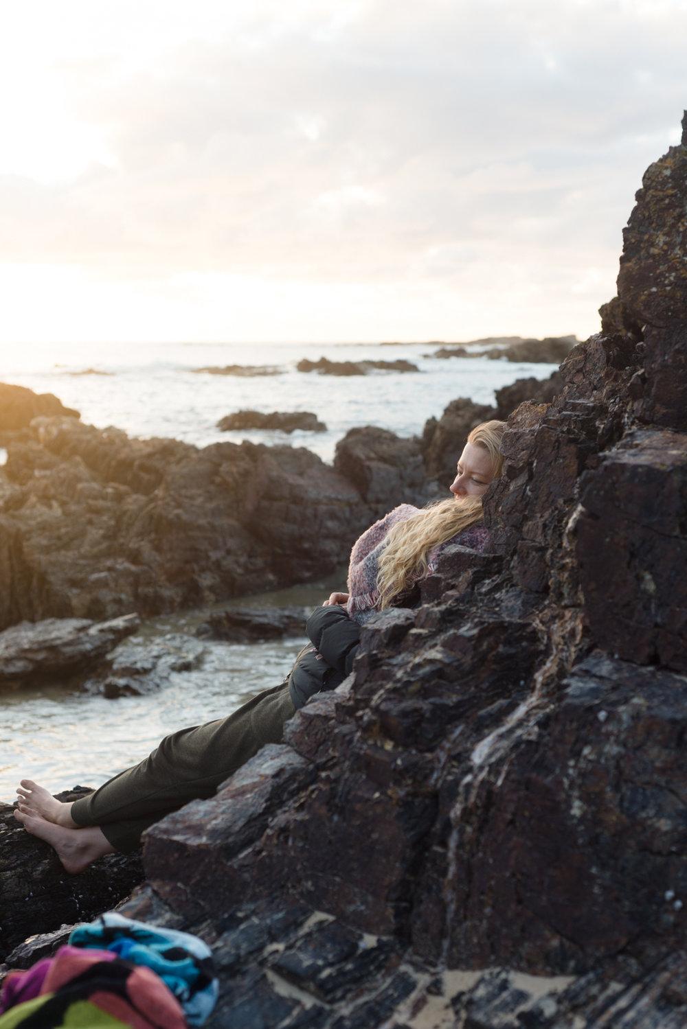 mystery bay sunrise portrait