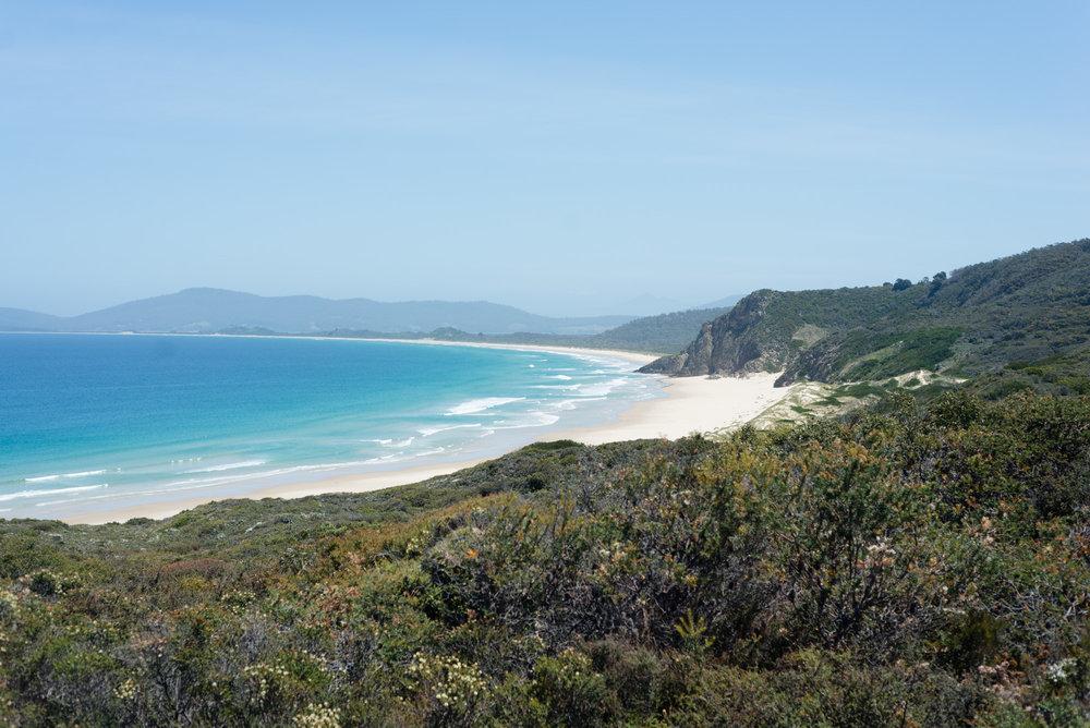 secluded beach bruny island tasmania