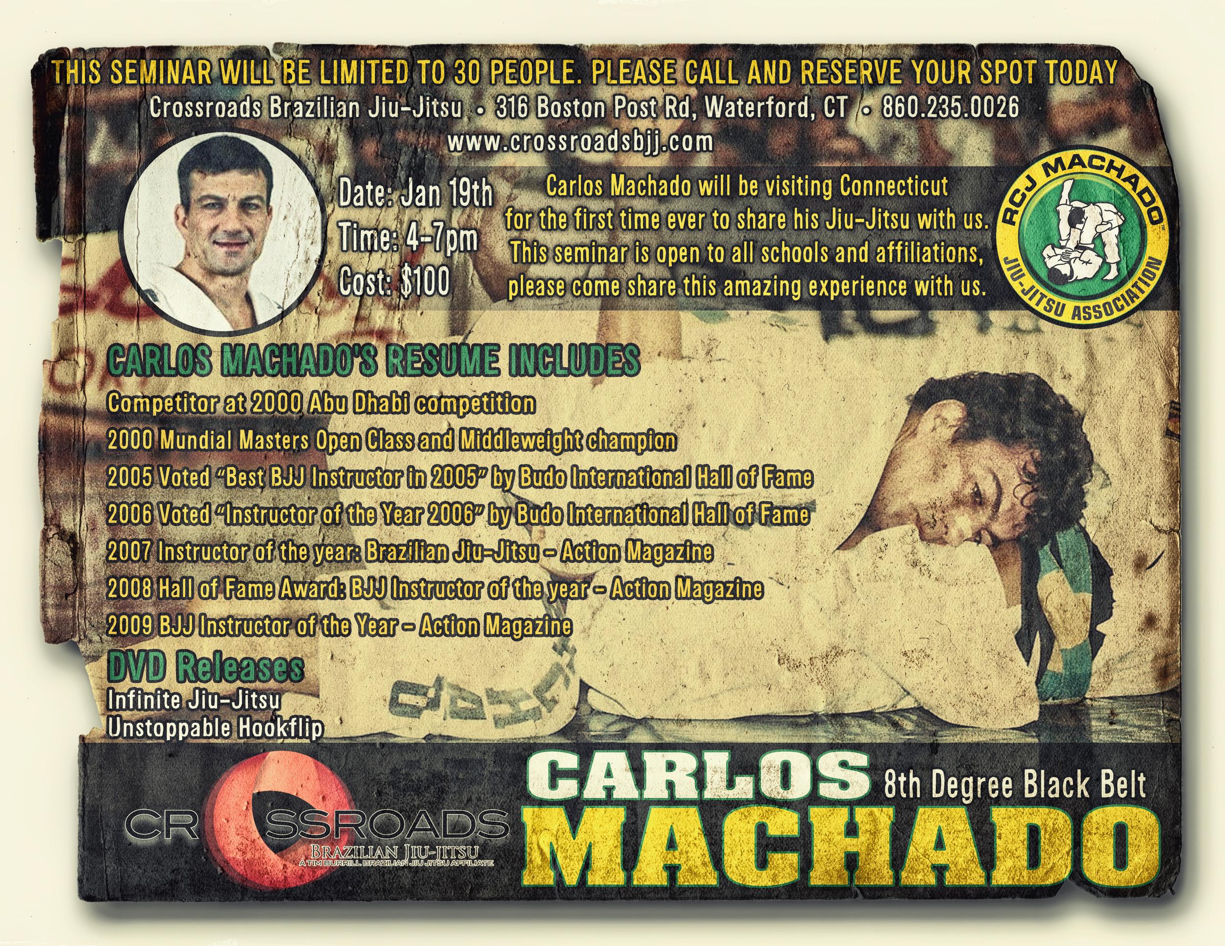 Carlos Machado Seminar Flyer