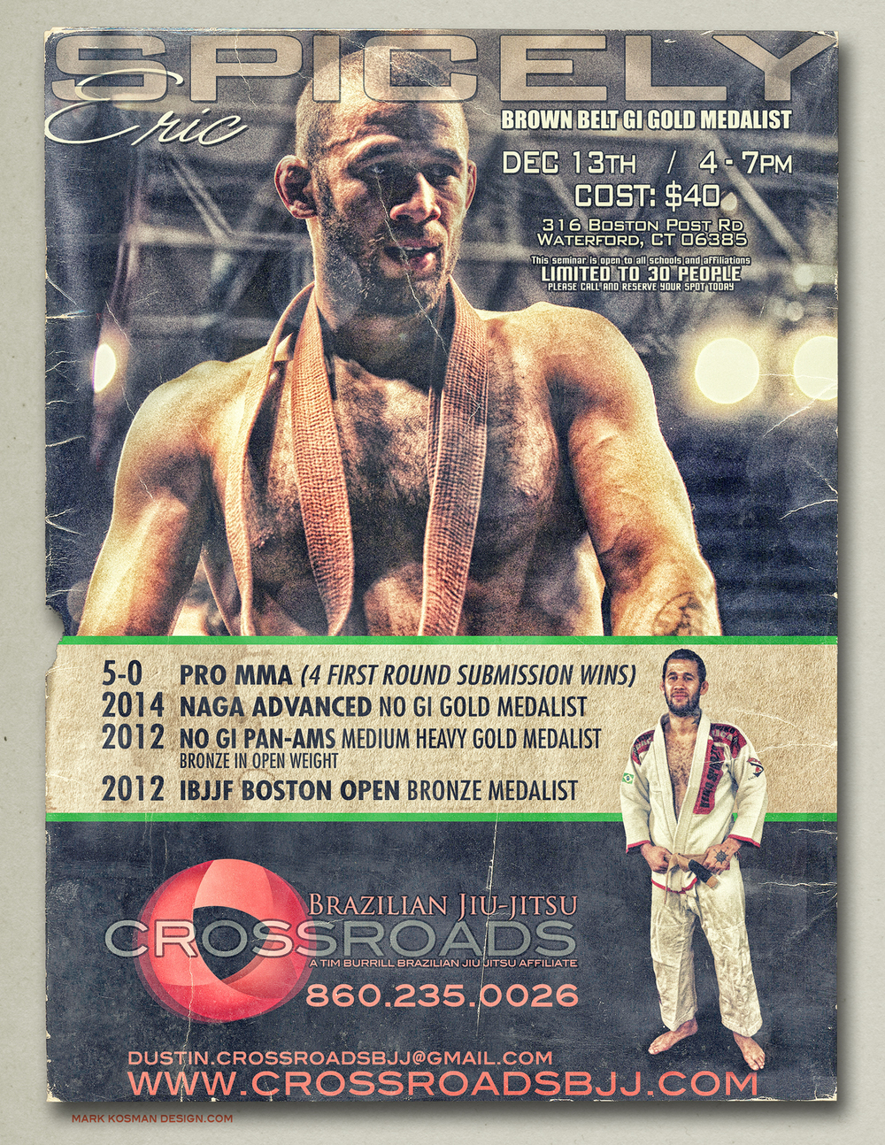 Eric Spicely Seminar in CT at Crossroads BJJ | Crossroads